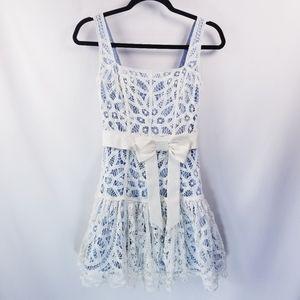 Betsey Johnson Lined Lace Sleeveless Mini Dress